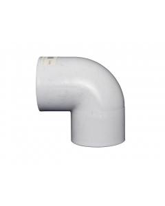 90° Elbow PVC 50mm - White